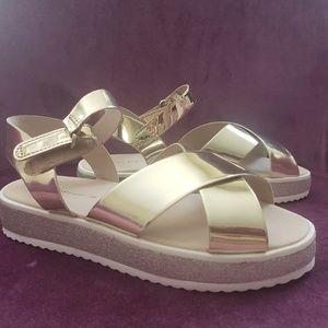 Zara gold girls sandals
